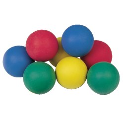 Sport-Thieme Set of 12 foam rubber balls