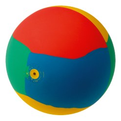 WV® Rubber Gymnastics Ball Multicoloured, ø 19 cm, 420 g