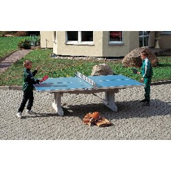 "Sport-Thieme ""Premium"" Polymer Concrete Table Tennis Table Short legs, free-standing, Green"
