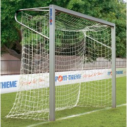 Sport-Thieme aluminium small pitch goal, 3x2 m, square tubing, free-standing or fitted into ground sockets