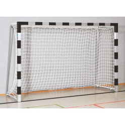 Sport-Thieme® Handball Goal 3x2 m, standing in ground sockets Black/silver, Bolted corner joints