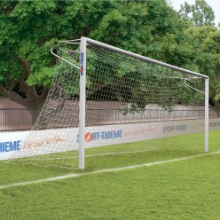 Sport-Thieme Aluminium Football Goal, 7.32x2.44 m, with Welded Corners, in Ground Sockets