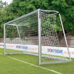 Sport-Thieme Fully Welded, 5x2 m,  with 120x100-mm Oval Tubing Base Frame Youth Football Goal
