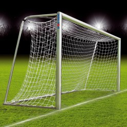 5x2-m fully welded football goal, portable with milled net fastening rail