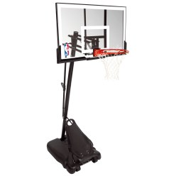 "Spalding ""NBA Gold Exacta High Lift Portable"" Basketball Unit"