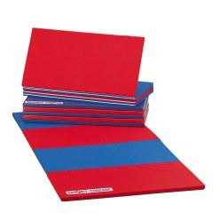 Sport-Thieme® Faltmatte 240x120x3,5 cm Blau-Gelb-Grün-Rot