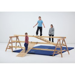 "Sport-Thieme® Wooden Support Stands for the ""Lüneburger Stegel"" set"