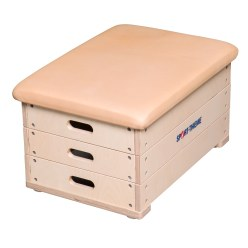 "Sport-Thieme® 3-Part ""Multiplex"" Vaulting Box With leather cover"