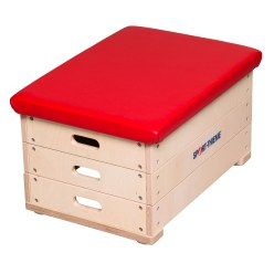 "Sport-Thieme® 3-Part ""Multiplex"" Vaulting Box With imitation leather cover"