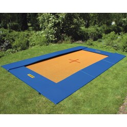 Eurotramp Bodentrampolin Grand Master, Grau-Orange