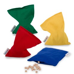 Sport-Thieme® Set of 4 Small Beanbags 120 g, approx. 15x10 cm, Plastic granule filling, washable