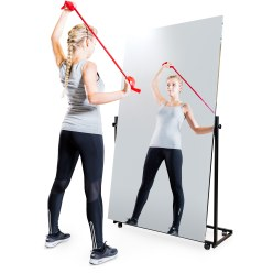 Mobile Corrective Foil Mirror 175x150/74/74 cm (HxW), 3 sections