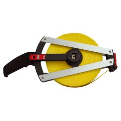 BMI Single-Sided Fibreglass Measuring Tape 25 m, Case