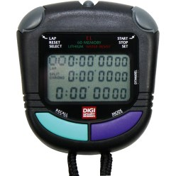 """PC-91-EL"" DIGI Stopwatch with 60 Memory Spaces"