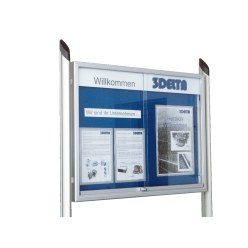 Illumination for Display Boards with Sliding Doors