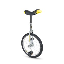 "Qu-Ax® ""Luxus"" Outdoor Unicycle 20-inch tyre (ø 51 cm), chrome frame"