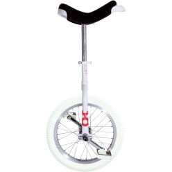 "OnlyOne® ""Indoor"" Unicycle 16-inch tyre (ø 41 cm), white frame"