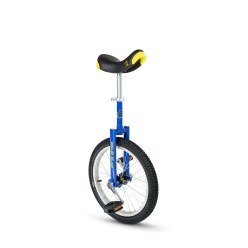 "Qu-Ax® ""Luxus"" Outdoor Unicycle 18-inch tyre (ø 46 cm), blue frame"