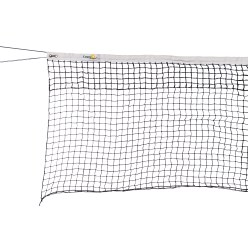 Double-Row Tennis Net with Tensioning Rope at the Bottom