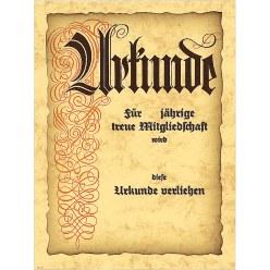 """Urkunde """"Jubiläum/Mitgliedschaft"""""""