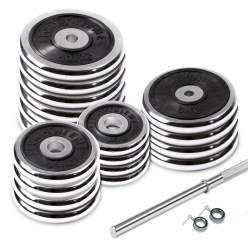 100-kg Chrome Barbell Set