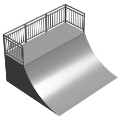 Quarter Pipe with Platform