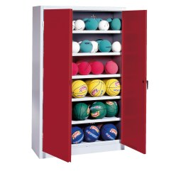 Ball Cabinet, HxWxD 195x120x50 cm, with Sheet Metal Wing Doors (type 3)