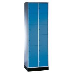 """Schließfachschrank """"S 4000 Intro"""" (6 Fächer übereinander) Enzianblau (RAL 5010), 195x92x49cm/ 18 Fächer"""