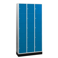 """Schließfachschrank """"S 4000 Intro"""" (5 Fächer übereinander) Lichtgrau (RAL 7035), 195x62x49cm/ 10 Fächer"""