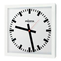 Peweta® Großraum-Wanduhr 40x40 cm, Netzbetrieb