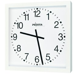 Peweta® Vægur til store rum, 50x50 cm, batteri-drevet