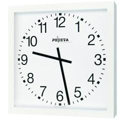 Peweta® Großraum-Wanduhr 50x50 cm, Batteriebetrieb