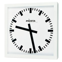 Peweta Großraum-Wanduhr 50x50 cm, Batteriebetrieb