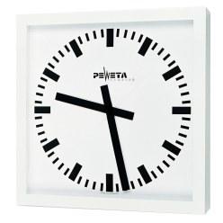 Peweta® Großraum-Wanduhr 40x40 cm, Batteriebetrieb