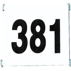 Startnummernsatz aus reißfestem Papier