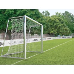 Fully welded, 3x2-m small pitch football goal, portable with milled net fastening rail, 3x2 m