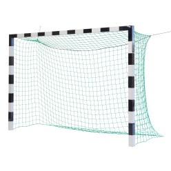 Hallenhandballtor 3x2 m, schwarz-Silber, ohne Netzbügel 2. Wahl