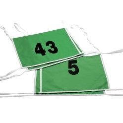 Double Start Numbers with Edging Tapes Numbers: 1 or 2 digits, white
