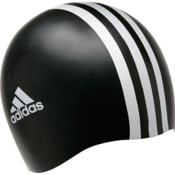 "Adidas® ""3S"" Swimming Cap Black/white"