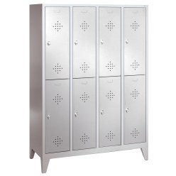 """S 2000 Classic"" Double Lockers with 150-mm-high Feet 185x61x50 cm / 4 shelves, 30 cm"