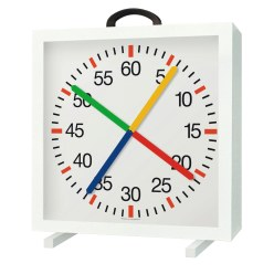 Training Clock with Crossed Second Hands