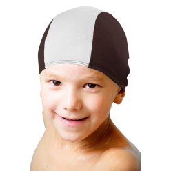 Fabric Swimming Cap Black/white, Children
