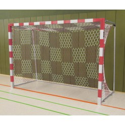Sport-Thieme® Handball Goal, 3x2 m, Free-standing Black/silver, Welded corner joints
