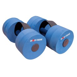 "Sport-Thieme® ""Sportime"" Aqua Jogging Dumbbells with Holding Strap Senior length: approx. 35 cm, ø 15 cm"