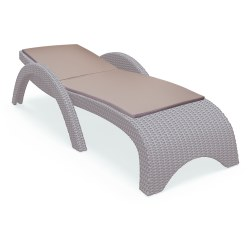 Sun lounger cushion Chrome