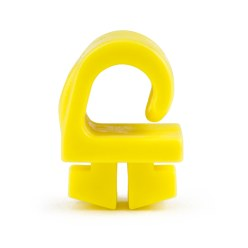 Safety Net Hooks made from KU Theft-proof, the net is in the tubing groove, yellow, 19x19x11 mm.