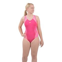 """Speedo® Fit Schwimmanzug """"Splice"""" Magenta/Fluo Pink/Fluo Orange"""