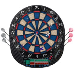 Electronic Dartboard with Darts Cricket