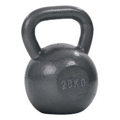 Sport-Thieme® Hammer Finish Kettle Bell, Lacquered, Grey