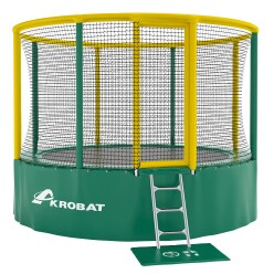"Akrobat Trampoline ""Gallus"" ø 3.60 m, Green/yellow"